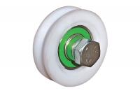 Wheel in Nylon for Sliding Gates - 1 Ball Bearing Round Groove  Ø 20 - IBFM
