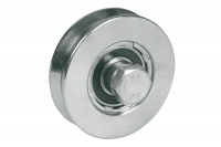Wheel for Sliding Gates - 1 Ball Bearing - Groove V - IBFM