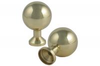 Brass Knob Threaded Smooth Type  Lackered - IBFM