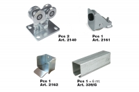 Complete KIT for 4 Wheels Cantilever Gate System for Light Gates - IBFM