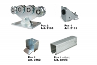 Complete KIT for 8 Wheels Cantilever Gate System for Light Gates - IBFM