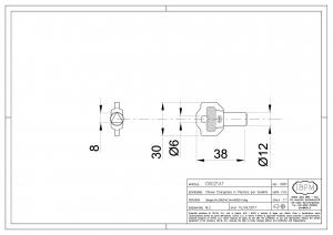 Triangular Plastic Key for Latch - IBFM