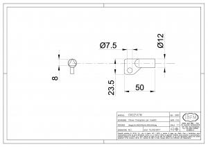 Triangular Metal Key for Latch - IBFM