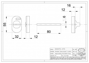 Locker for Toilet with Oval Cylinder - IBFM