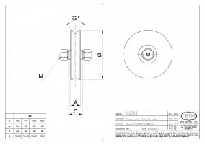 Wheel for Sliding Gates - Groove V with Lubrication - IBFM