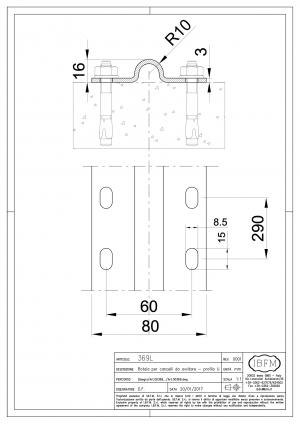 Wheel Track to be Screwed - 20 mm Round Shape - IBFM