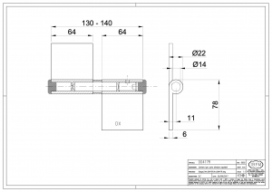 Hinge for Security Door with Regulation - IBFM