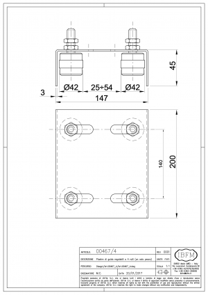 Adjustable 4 Guides Plate for Sliding Gate - IBFM