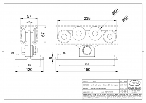 Carriage 8 bearings for Cantilever gate - IBFM