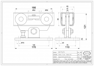 Carriage 5 bearings  - IBFM