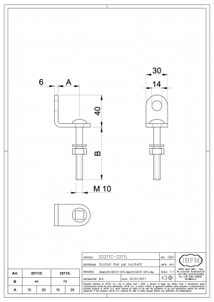 Fixed Steel Hasps for Padlock - IBFM