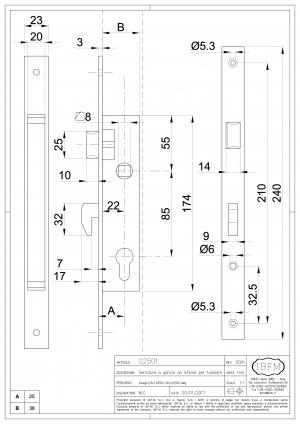Hook Mortice Locks for Steel Profile - IBFM