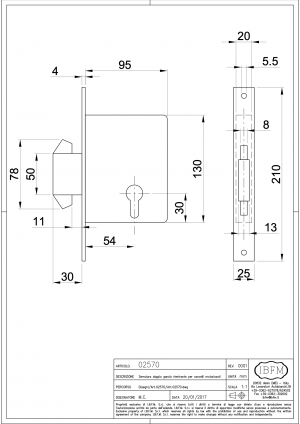 Double Hook Lock for Motor gate - IBFM