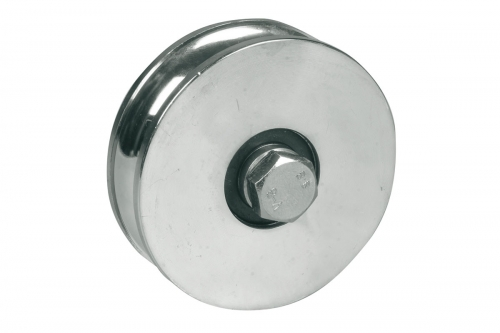 IBFM | Wheel for Sliding Gates - 1 Ball Bearing - Semi-Round Groove - IBFM