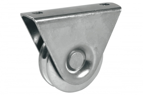 Wheel with External Support - 1 Ball Bearing - Round Groove - INOX - IBFM