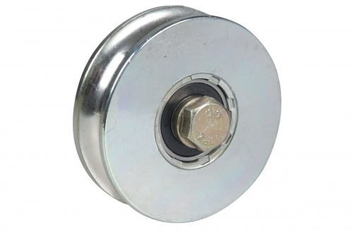 Wheel for Sliding Gates - 1 Ball Bearing - Round Groove - IBFM