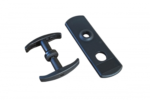 Nylon handle and plate for overhead doors - IBFM