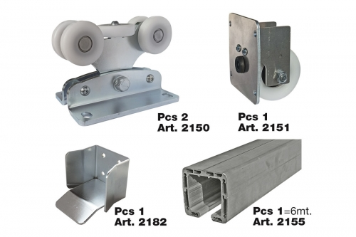 Complete KIT for Cantilever Gate System with Aluminium track - IBFM