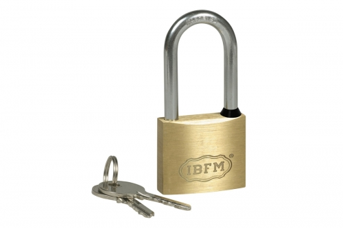 Brass Padlock - Long Schakle - IBFM