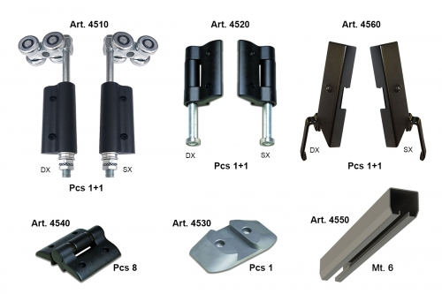Complete KIT for Gate 4 Leaves (2+2) - IBFM