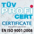 Certificación TUV - EN ISO 9001-2008